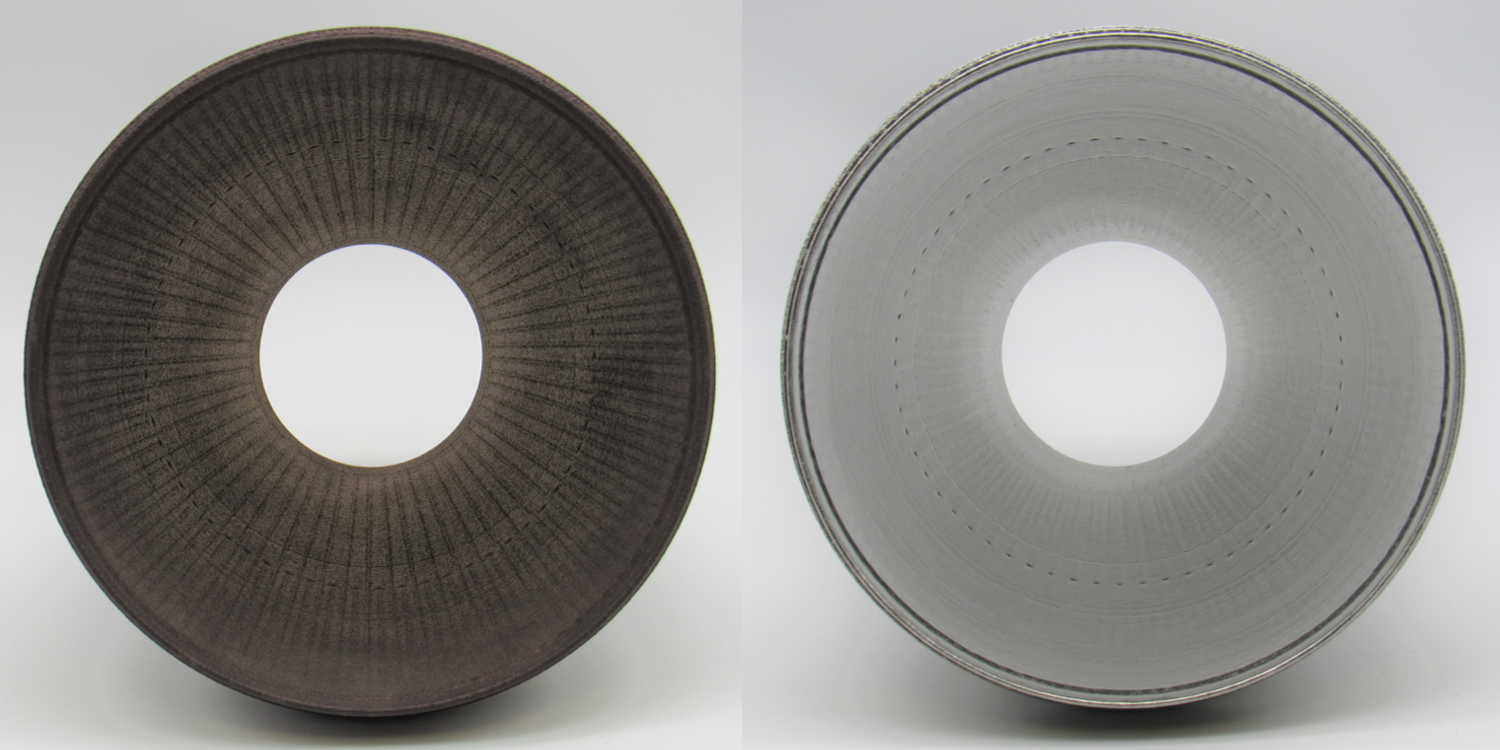 Before and after 1.2K HR1 Nozzle